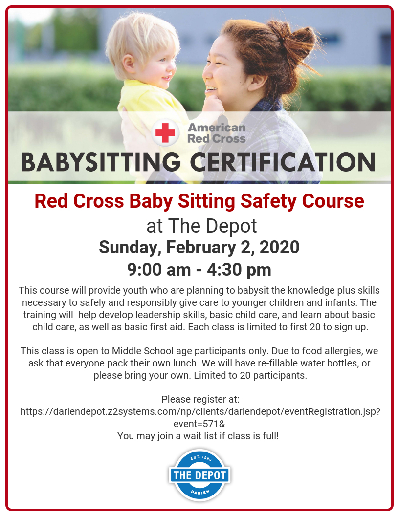 Red Cross Baby Sitting Course